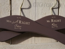 "Kleiderbügel-Set  ""Mr. RIGHT & Mrs. always RIGHT"""